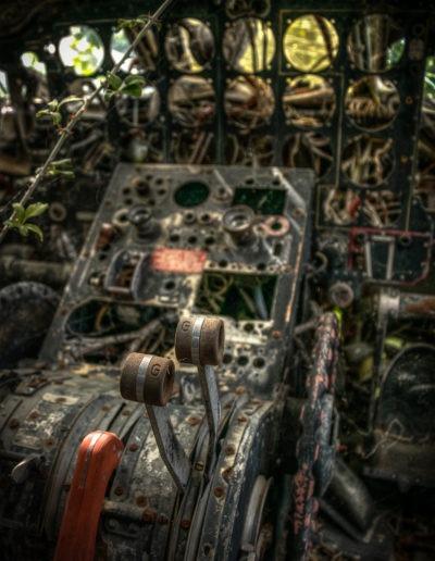 Carcasse d'un Avion Noratlas, France