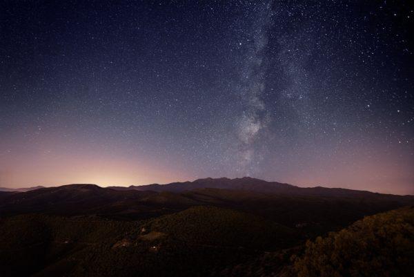 Voie Lactée au dessus du Canigó