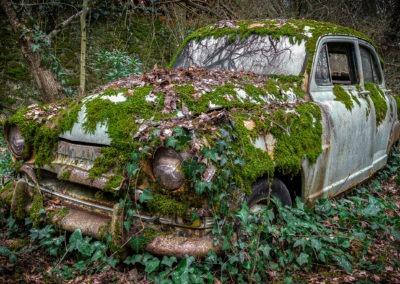 Simca Aronde abandonée, France