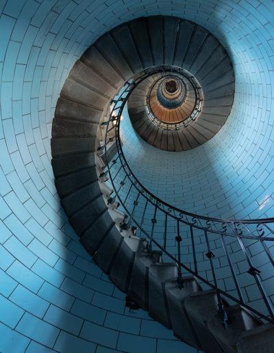 Escalier du Phare d'Eckmühl, Bretagne