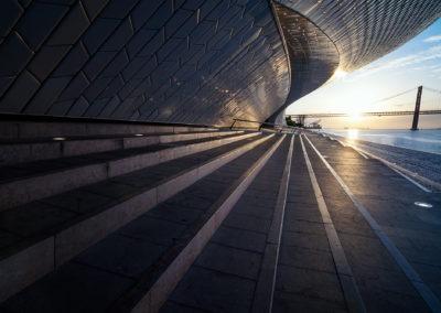 Lever de soleil sur la Maat, Lisbonne, Portugal