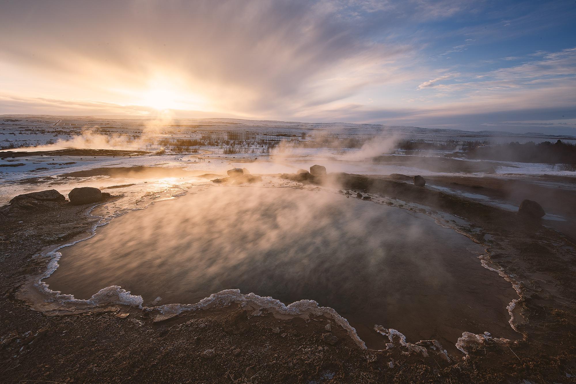 Konungshver, Geysir, Islande