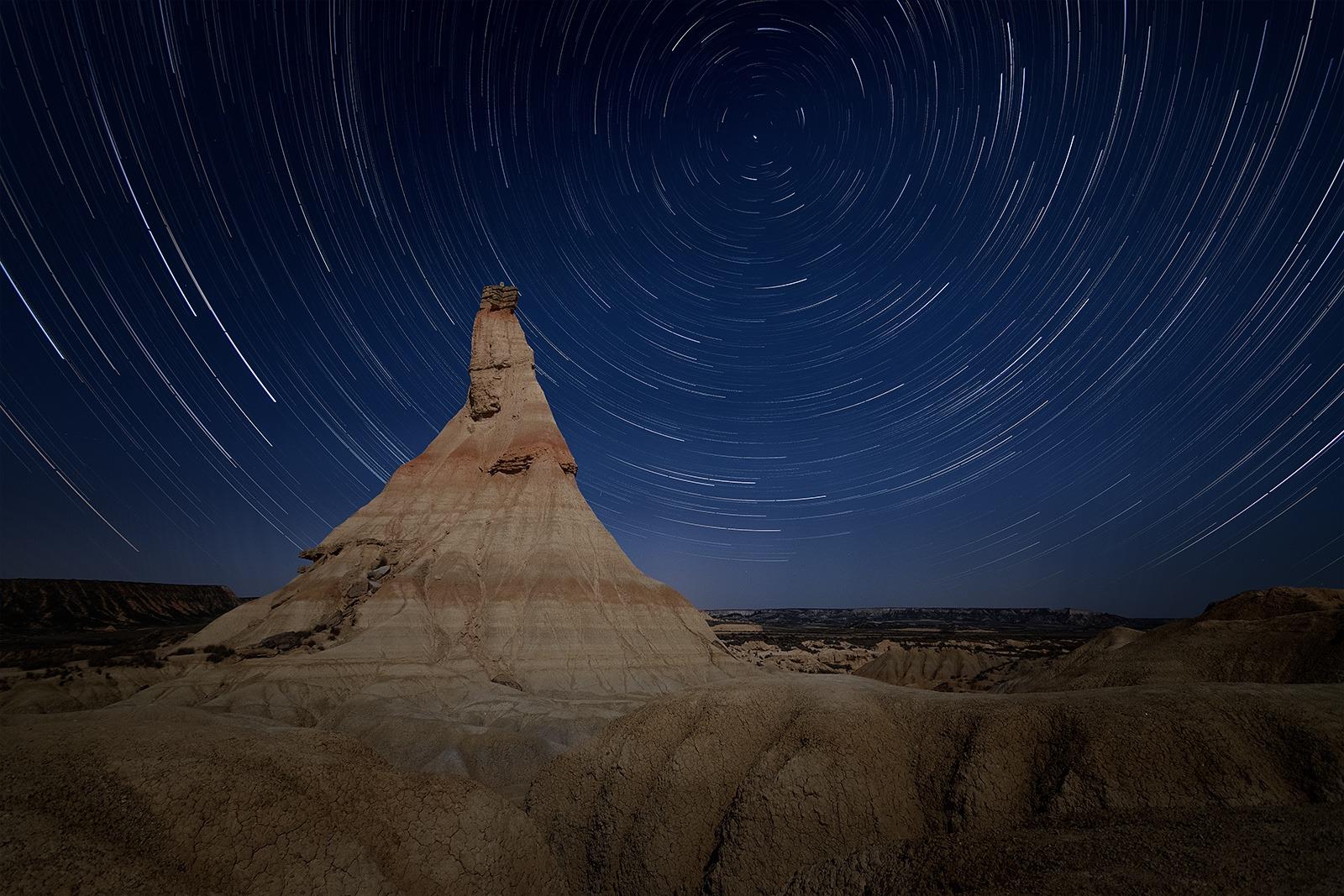 Circumpolaire dans le désert de Bardenas Reales