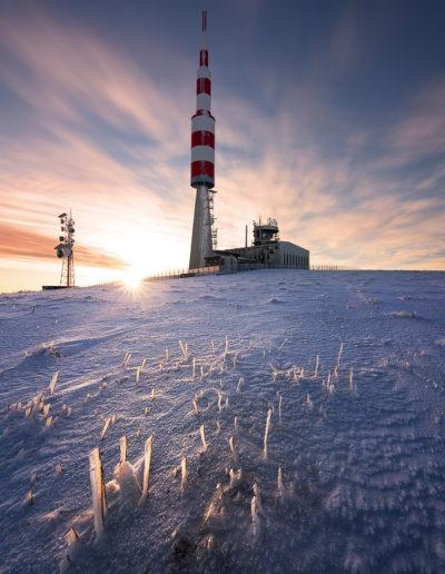 Pic de Nore au lever du soleil
